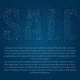 Caption - Sale of stars in the night star sky. Royalty Free Stock Image