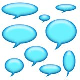 Captions and Speech Bubbles Stock Photos