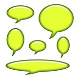 Captions and Speech Bubbles Isolated Royalty Free Stock Image