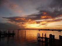 Captiva Island sunrise. Sunrise at Captiva Island (FL), looking to Pine Island. This is part of Pine Island Sound Aquatic Preserve Stock Image