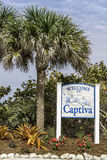 Captiva Island welcome to sign Stock Photo