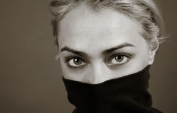 Captivating. Beautifully captivating eyes in black and white Royalty Free Stock Photos