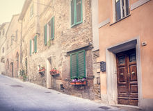 Captivating street of old Montepulciano Stock Photo