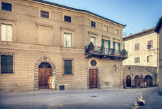 Captivating street of old Montepulciano Stock Photos