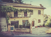 Captivating street of old Montepulciano Stock Photography