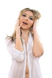 Captivating youthful blond girl Royalty Free Stock Photos