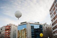 Captive ballon. Aerial photography using a captive balloon Stock Photography
