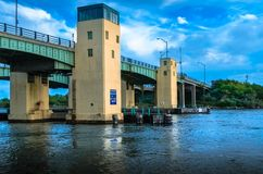 Captree Island Bridge royalty free stock images