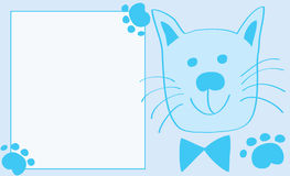 Capítulo con un gato para un muchacho Fotos de archivo libres de regalías