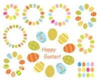 Capítulos de los huevos de Pascua del color - sistema Fotos de archivo libres de regalías