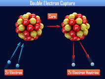 Captura de electrón doble stock de ilustración