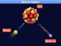 Captura de neutrón stock de ilustración