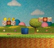 captura de pantalla del nivel del videojuego de la plataforma 3D/ejemplo del fondo 3D libre illustration