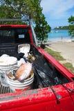 Captura de pescados del Caribe imagen de archivo libre de regalías