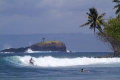 Captura do surfista a onda Fotos de Stock