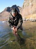 Captura e liberação de pesca Imagens de Stock Royalty Free