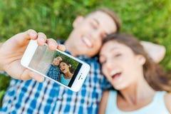 Capturando as emoções brilhantes Fotos de Stock