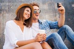 Capturando os momentos brilhantes Foto de Stock Royalty Free