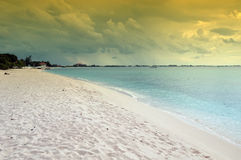 Capture of a beach front with sand and water Royalty Free Stock Image