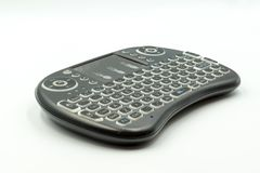 Television wireless keyboard for easy reach royalty free stock image
