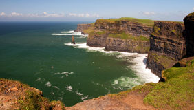 Capture of the cliffs of moher, ireland Royalty Free Stock Photo