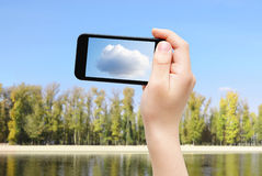 Capture cloud Stock Image