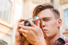 Capture d'un moment Photo stock