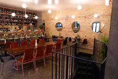Capture design ideas trendy cafe or restaurant because bar. Stock Photography