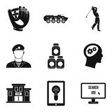 Capture icons set, simple style. Capture icons set. Simple set of 9 capture vector icons for web isolated on white background Royalty Free Stock Photography