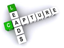 Capture Leads. An illustration of the words Capture Leads in a crossword royalty free illustration