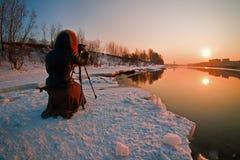 Capture los rayos de la puesta del sol Imagenes de archivo