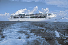 Capture of a luxury cruise ship, two tone. Stock Images