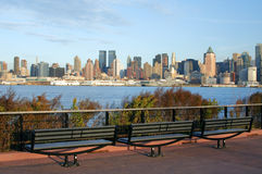 Capture of new york city skyline at afternoon Royalty Free Stock Photography