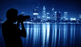 Capture the night scene of Perth