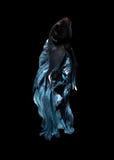 Capture o momento movente de peixes de combate siamese azuis Imagem de Stock Royalty Free
