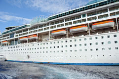 Capture of a ocean liner ship. Photo capture of a ocean liner ship Royalty Free Stock Images
