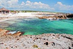 Capture on a remote carribbean beach. Photo capture on a remote carribbean beach Royalty Free Stock Photo