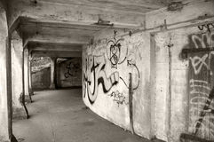 Capture of a scary dirty city underpass Stock Images