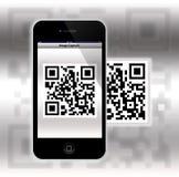 Capture um código de QR (resposta rápida) Imagens de Stock