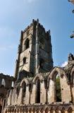 Capture verticale de tour d'abbaye de fontaines photographie stock libre de droits