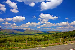 Capture of vibrant countryside scenic landscape Royalty Free Stock Images