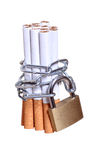 Captured cigarettes Royalty Free Stock Photos