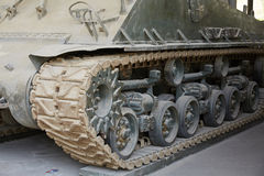 The captured tank part view Stock Images