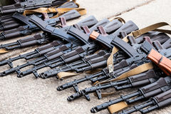 Captured weapons Stock Photo
