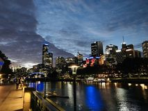 Walk by the river Yarra royalty free stock photos
