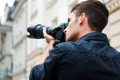 Capturing the beauty. Royalty Free Stock Photo