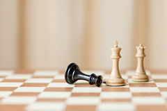 Capturing chess game Royalty Free Stock Images