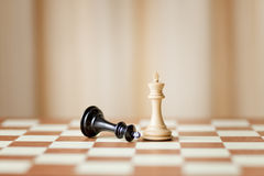 Capturing chess game Royalty Free Stock Photo