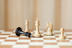 Capturing chess game Royalty Free Stock Photography