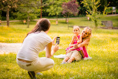 Capturing happy family moments Stock Photo
